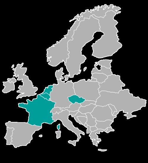 Kde působíme v Evropě